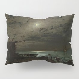 The Far Place Under Moonlight landscape painting by Magnus Munsterhjelm Pillow Sham