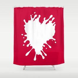 Splatter Heart Shower Curtain