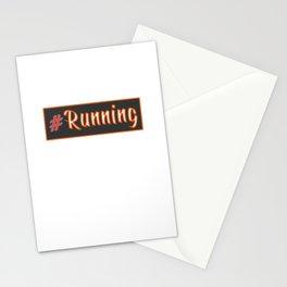Running hashtag I Funny Runner Gift Idea Stationery Cards