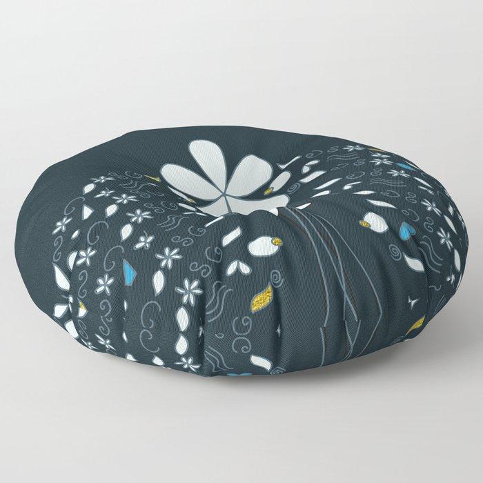Night Garden Pattern Floor Pillow
