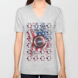 Shield digital artwork Unisex V-Neck