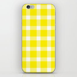 Plaid Canary Yellow iPhone Skin