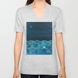 Storm, Ocean waves Unisex V-Neck