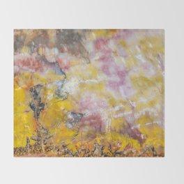 Petrified Wood Art Throw Blanket