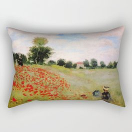 POPPIES - CLAUDE MONET Rectangular Pillow