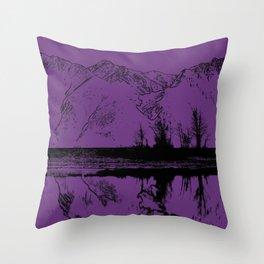 Knik River Mts. Pop Art - 2 Throw Pillow