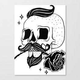 Barber Skull Canvas Print