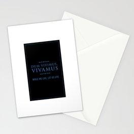 Dum vivimus, Vivamus - While We Live, Let Us Live - Old Latin Text Message - Minimalist design - Home Decor Wall Art Stationery Cards