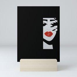 """Red Lips"" Mini Art Print"