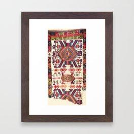 Hotamis Sivas Central Anatolian Kilim Fragment Print Framed Art Print