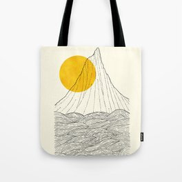 The tall cliff by the sea Tote Bag