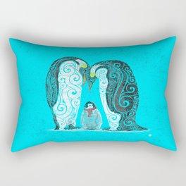Swirly Penguin Family Rectangular Pillow
