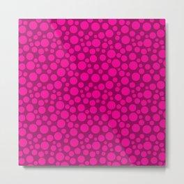 Raspberry pink polka dots . Metal Print