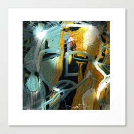 the synaptic gap Canvas Print