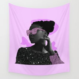 Rock Star Glitter Collage Wall Tapestry