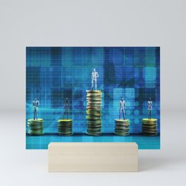 Wealth Management Services and Financial Solutions as Concept Mini Art Print