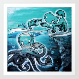 Squiggles+Skribbles: Overcoming odds Art Print