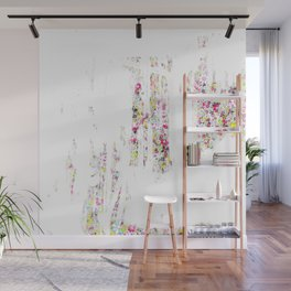 Social flowers with wall Wall Mural