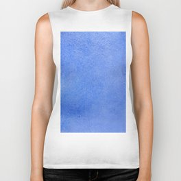 Azure watercolor Biker Tank