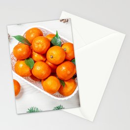 Pictures New year Mandarine Food Branches Conifer  Stationery Cards