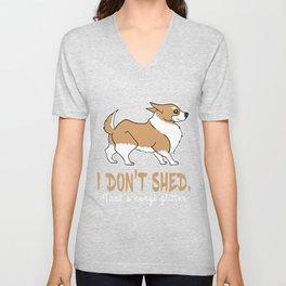 Dog Doglover Corgi dog cute pet funny gift fluffy birthday Unisex V-Neck