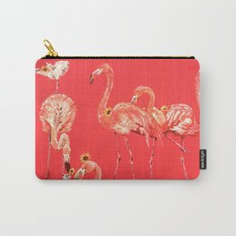 Sunning Flamingos Carry-All Pouch