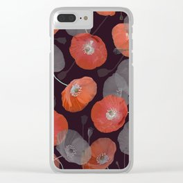 Night in the Poppy Field Clear iPhone Case