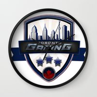 gaming Wall Clocks featuring Toronto Gaming by rramrattan