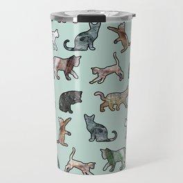 Cats shaped Marble - Mint Green Travel Mug