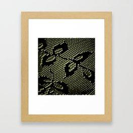 olive lace Framed Art Print