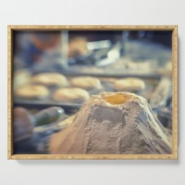 Egg Volcano baking biscuits kitchen art Serving Tray