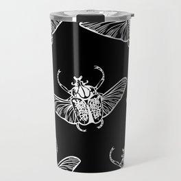 Goliath Beetle in White Travel Mug