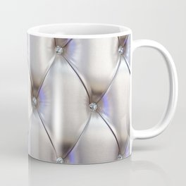 Silvery leather with rhinestone decoration Coffee Mug