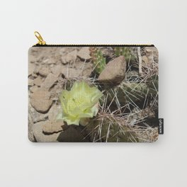 Cactus with Yellow Flower Carry-All Pouch