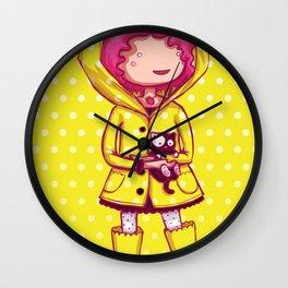 Raining Polka Dots Wall Clock