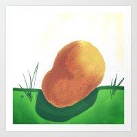 potato Art Prints featuring Potato by Mark Jobriel