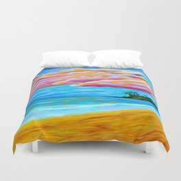 Pāʻia Bay Sunrise Duvet Cover