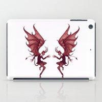 diablo iPad Cases featuring Double Diablo by Little Bunny Sunshine