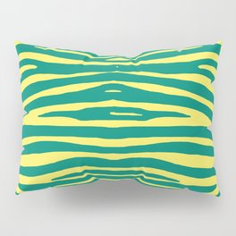 Zebra Pelt in green and yellow Pillow Sham