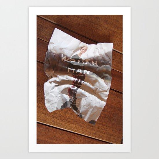 disposable fashion Art Print