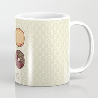 donuts Mugs featuring Donuts by Monstruonauta