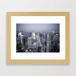 NYC from Empire State Building Framed Art Print