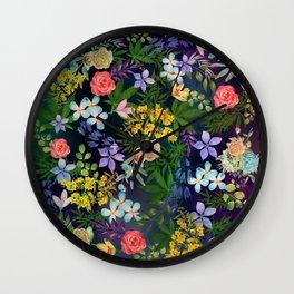 Flowery Marijuana Wall Clock