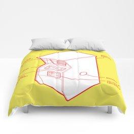 ARCADE CAB - PONG Comforters