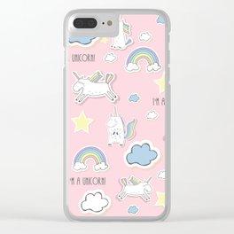 I'm a unicorn - pink Clear iPhone Case