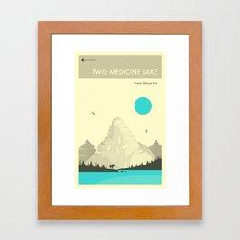 TWO MEDICINE LAKE Framed Art Print