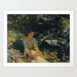 John Singer Sargent 1856–1925   The Black Brook Art Print