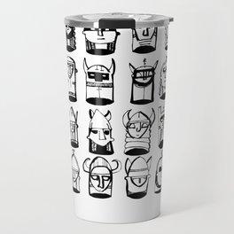 Black and White Helmets Travel Mug