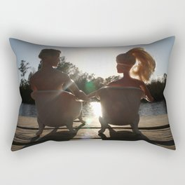 When The Moment Is Right II Rectangular Pillow