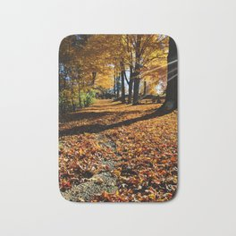 New England Autumn Bath Mat